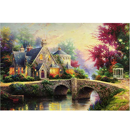 "NorthKe Puzzles for Adults 1000 Piece Large Format Thomas Kinkade Jigsaw Puzzle Games Gifts for Kids 19.7"" x 27.5"""