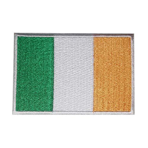 Parche bordado bandera Irlanda coser planchar, ropa