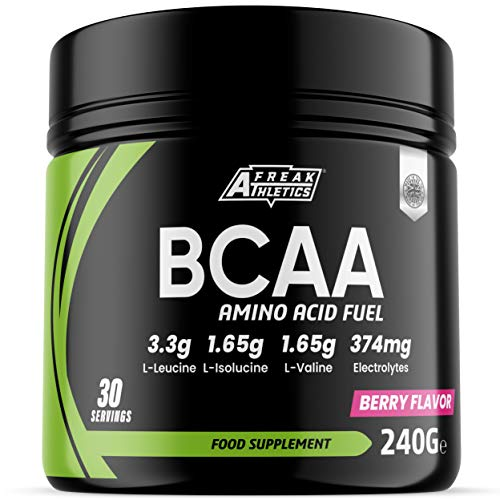 BCAA Powder - Berry Flavour Premium Grade Amino Acid Powder with Vitamin C, Zinc, Magnesium and Electrolytes