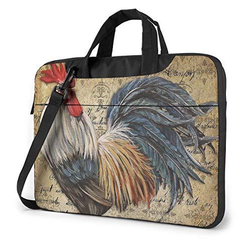 Laptop-Umhängetasche Awesome Rooster Chicken Creativity Laptop-Tasche mit Griff Tragetasche für 15,6-Zoll-Laptop