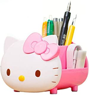 YOURNELO Pretty Multifunctional Hello Kitty Pen Pencil Holder Desk Organizer Accessories