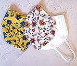 Überzug Cover für Masken Mundschutz Verschönerung Frühling Blumen Baumwolle Stoff Maskenüberzug Abdeckung waschbar Handarbeit in zwei Farben