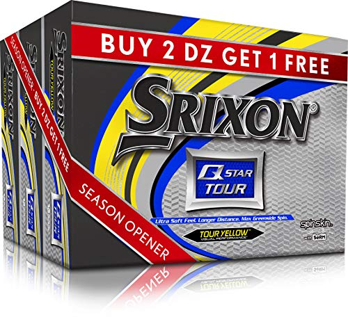 Srixon Q-Star Tour 3 Yellow Golf Balls