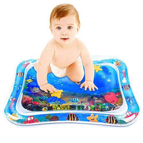 Best Review Of Luckyunicorn Play Mat Baby & Toddler Learn with Fun Inflatable Water Mat, Activity Ce...
