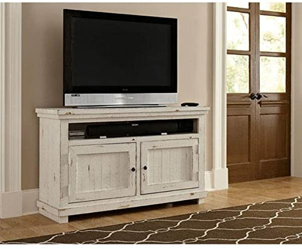 Progressive Furniture P610E 54 Willow Console 54 Distressed White