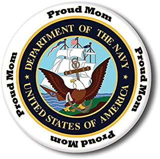 US Navy Proud MOM Button (Each)