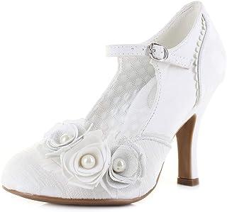 Ruby Shoo Antonia Femme Chaussures Blanc