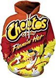 Chaos World Men's Novelty Hoodie Realistic 3D Print Pullover Unisex Casual Sweatshirt(S,Leopard Yellow)