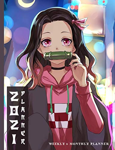 2021 Planner: Demon and Legend of Slayer Nezuko in City Manga Character 2021 Weekly & Monthly Planner, Organizer 2021 Agenda Schedule Goals Year, Gifts for Anime Lovers