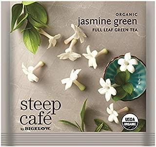 Steep Cafe Organic Jasmine Green Tea Bags by Bigelow, 50 Count Box