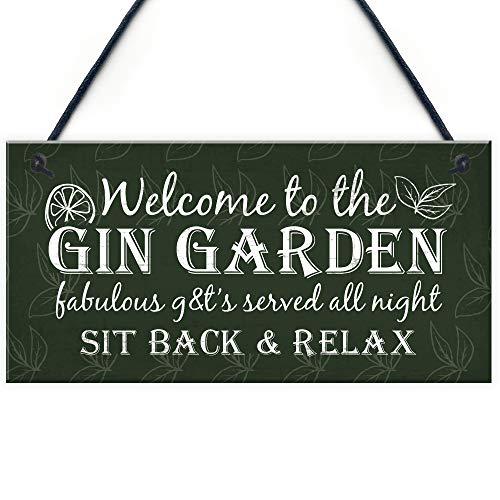 Cozy-T Gin Schilds Garden Shed Bar Pub Plakette Gin & Tonic Komisch Alcohol Schild Party Friendship Gift