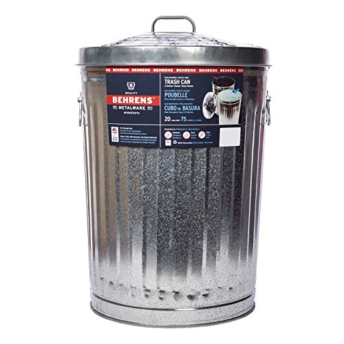 Product Image of the Behrens Galvanized Steel Trash Can, 20 gallon