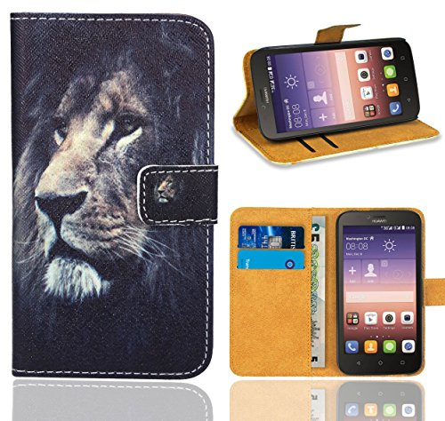 Huawei Y625 Handy Tasche, FoneExpert® Wallet Hülle Flip Cover Hüllen Etui Ledertasche Lederhülle Premium Schutzhülle für Huawei Y625 (Pattern 4)