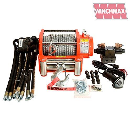 WINCHMAX 15.000lb (6.804kg) Original Orange Hydraulische Seilwinde Stahlseil Vollkontrollsystem