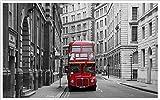 HDOUBR Papel Tapiz fotográfico Arte clásico Europeo Autobuses de Londres del Hotel Dormitorio Sala de Estar Mural Papel de Pared Papel de Pared, 200x140 cm (78.7 by 55.1 in)