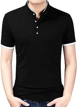 Wawer – Camiseta – Manga Corta – Algodón Hombre Blusa sólido ...