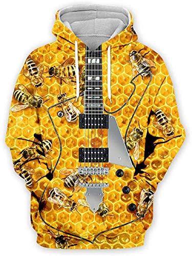 yyqx container 3D Sweatshirt Hoodie Gitaar Unisex Outdoor Hoodies 3D Gedrukt Lange Mouw Koppels Pullover Verstelbare Losse Joggers Sweatshirts