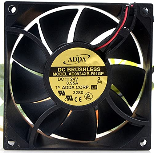 Ranking TOP9 AD0924XB-F91GP ADDA 24V Fees free!! 90mm Fan Cooli 0.95A Inverter 2-Wire