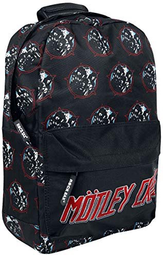 Mötley Crüe Heavy Metal Power Unisex Rucksack schwarz 100% Polyester Band-Merch, Bands