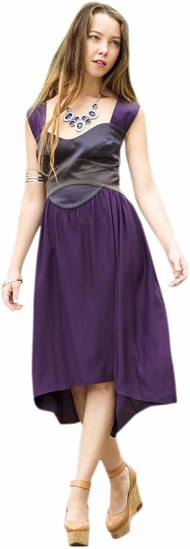 Beautiful Italian Hilow Dress by Anze Creations  Black and Purple   Partywear