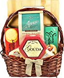 Gift Basket Village Savories & Sweets Seasonal Sampler with Cutting Board, Cheese, Sausage Crackers and Sweet Treats Too