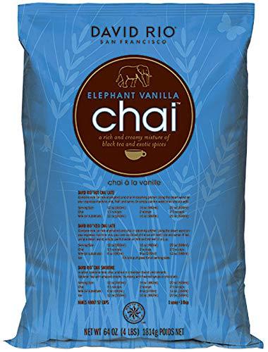 David Rio - Elephant Vanilla Chai | Chai Tee mit schwarzem Tee, Gewürzen und Vanillearoma | Nachfüllbeutel | Gastronomie | 1814g
