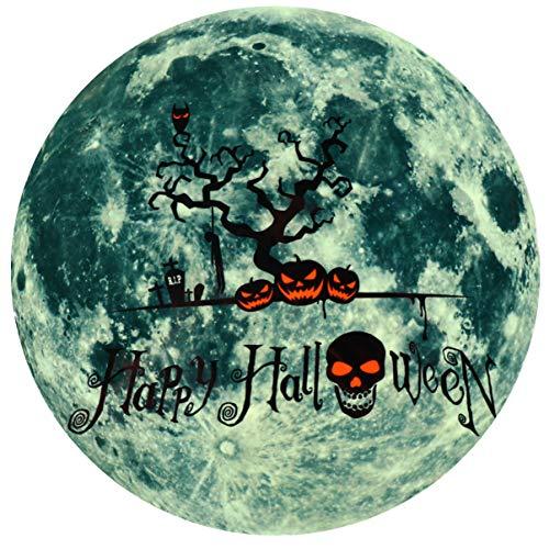 NUOBESTY - Adhesivo luminoso para Halloween, diseño de calabaza que brilla en la oscuridad, para fiestas de Halloween, ventanas, oficinas, accesorios de broma