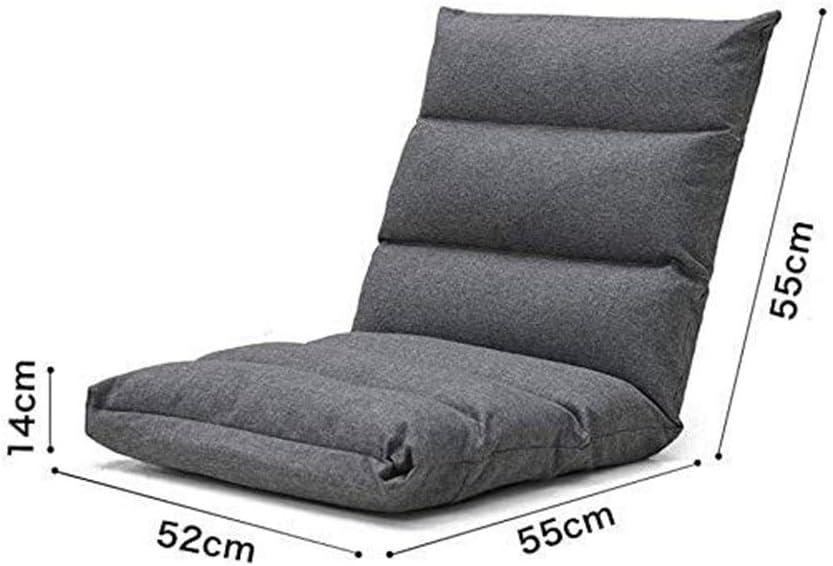 Easy Lounge Coussin Lazy Canapé Pliant Fauteuil inclinable avec inclinable réglable Lit Simple Chaise Pliante Canapé-lit Lazy Couch (Color : C) D