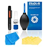 Phot-R Professional 10-in-1 Camera Cleaning Kit for DSLR Cameras (Canon, Nikon, Pentax, Sony)