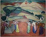 RuiChuangKeJi Leinwand Wandkunst 60x80cm Kein Rahmen Diego