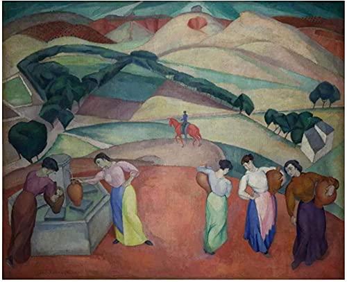 RuiChuangKeJi Lienzo de Arte de Pared 60x80cm sin Marco Diego Rivera en la Fuente de Toledo Arte póster Pinturas Lienzo para decoración del hogar Cuadros Impresiones en Lienzo