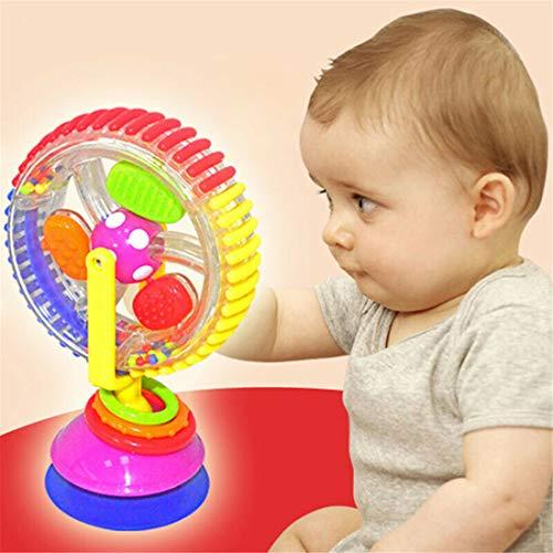 ZJN.DD Baby Riesenrad Drehrad Windmühle Glocke Kleinkind Spielen Spielzeug Kind Kinderspielzeug Spinnrad Saugspielzeug Hochstuhl Spielzeug