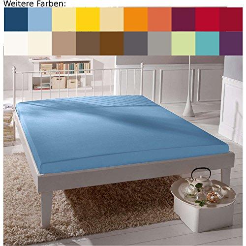 Hoeslaken Bella Donna Jersey voor matrassen & waterbed 140-160 x 200-220 cm in lichtblauw