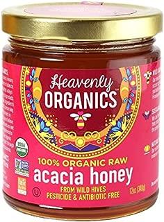 Heavenly Organics Organic Raw Acacia Honey 12 oz (Pack of 2)