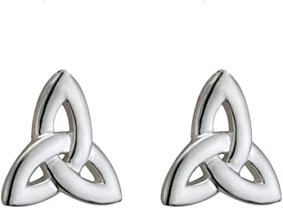 Womens Trinity Knot Earrings Irish Studs Small Sterling Silver Made in Ireland