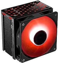 Premium RGB CPU Air Cooler - 4 Direct Contact Heat Pipes 120mm RGB Fan 4PIN PWM Radiator for Intel & AMD AM4 135W CR201