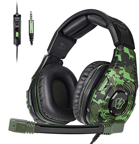 Letton Gaming Headset Bass Surround Stereo Sound Headphones for PS4 Xbox one PC MAC with Noise Cancelling mic Volume Control (Camouflage) - L2