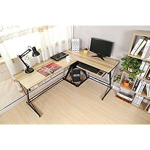 Escritorio de la computadora, DOSLEEPS L-Shaped Large Corner PC ...