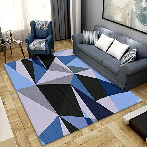 Alfombra Pasillo Alfombra Juvenil Dormitorio Rosa gris diseño de mosaico geométrico simple sala de estar moderna habitación de niña dormitorio comedor seguro y resistente al desgaste Alfombra Habitaci
