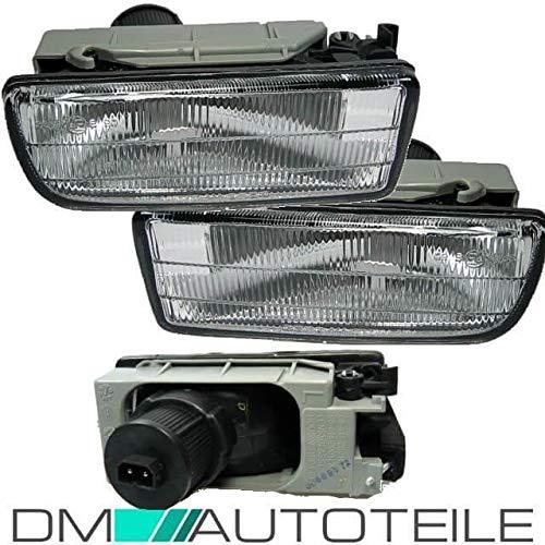 DM Autoteile Set Nebelscheinwerfer Weiß geriffelt OEM Set passend für E36 alle Modelle+M3