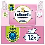 Cottonelle Feuchtes Toilettenpapier, Sensitive Pflegend - Parfümfrei, Biologisch Abbaubar,...