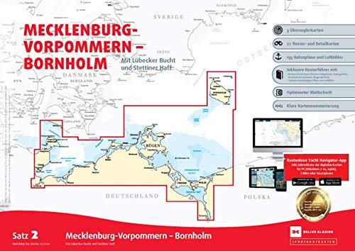 Sportbootkarten Satz 2: Mecklenburg-Vorpommern - Bornholm (Ausgabe 2021): Mit Lübecker Bucht und Stettiner Haff
