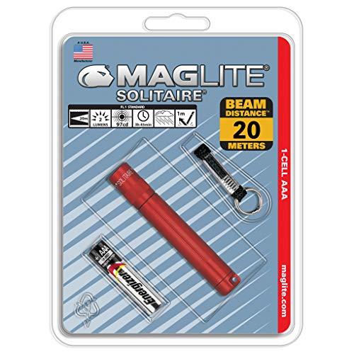 Mag-Lite K3A036 Solitaire Mini Lampe de Poche Métal Rouge 8 cm