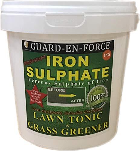 1 KILOGRAM TUB PREMIUM IRON SULPHATE MOSS KILLER, LAWN TONIC & GRASS...