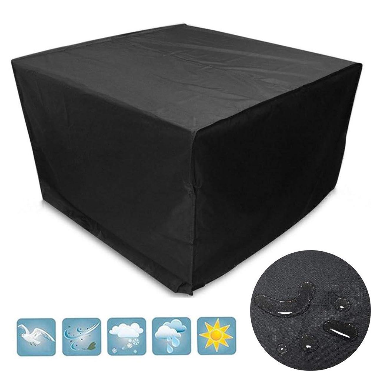 研磨柔和仕えるLITINGFC ガーデン家具カバー屋外パティオテーブルカバー防塵防水通気性簡単に折りたためますオックスフォード布、24サイズ (Color : Black, Size : 130x130x90cm)