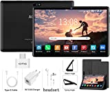 4g tablet 10 pollici, android 9.0 3gb ram e 32gb rom/128 gb espandibile quad core /dual sim / wifi / gps/bluetooth/otg/netflix /type-c tablet con wifi offerte - certificato google gms (nero)