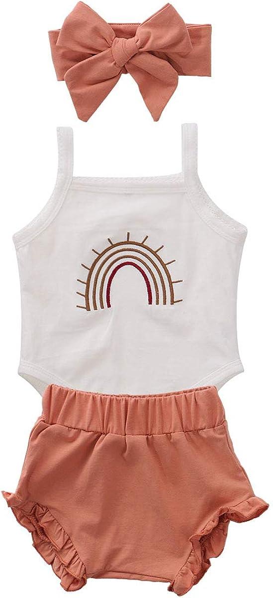 Newborn Toddler Baby Girl Summer Outfit Onesie Romper Shirts Top