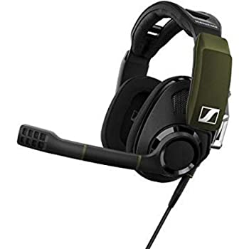 Sennheiser GSP 550 PC Gaming Headset with Dolby 7.1 Surround Sound, Flip-to-Mute microphone, USB connectivity for Dekstop and Laptop compatibility, Open-back ear cups, breathable fabric Headset, black