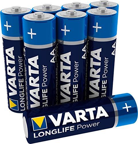 VARTA Longlife Power AA Mignon LR6 Batterie (8er Pack) Alkaline Batterie - Made in Germany - ideal für Spielzeug Taschenlampe Controller und andere batteriebetriebene Geräte