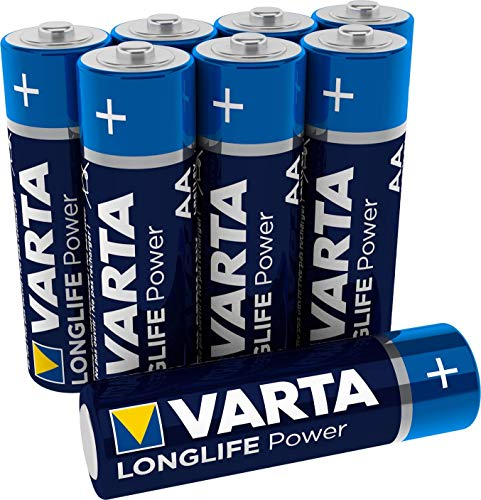 VARTA Longlife Power AA Mignon LR6 Batterie (8er Pack) Alkaline Batterie - Made in Germany - ideal für Spielzeug Taschenlampe Controller und andere batteriebetriebene Geräte